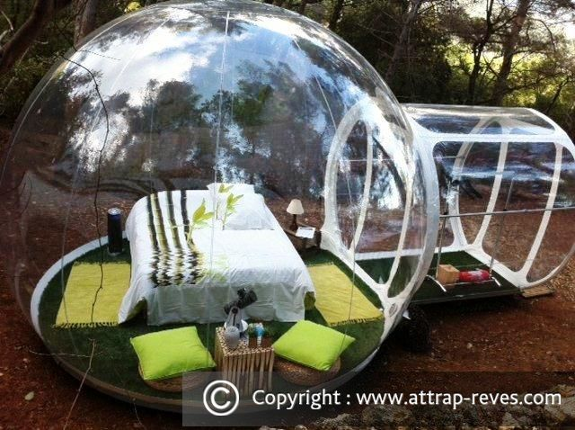 attrap 39 r ves bubble hotel at puget ville for an unusual night. Black Bedroom Furniture Sets. Home Design Ideas
