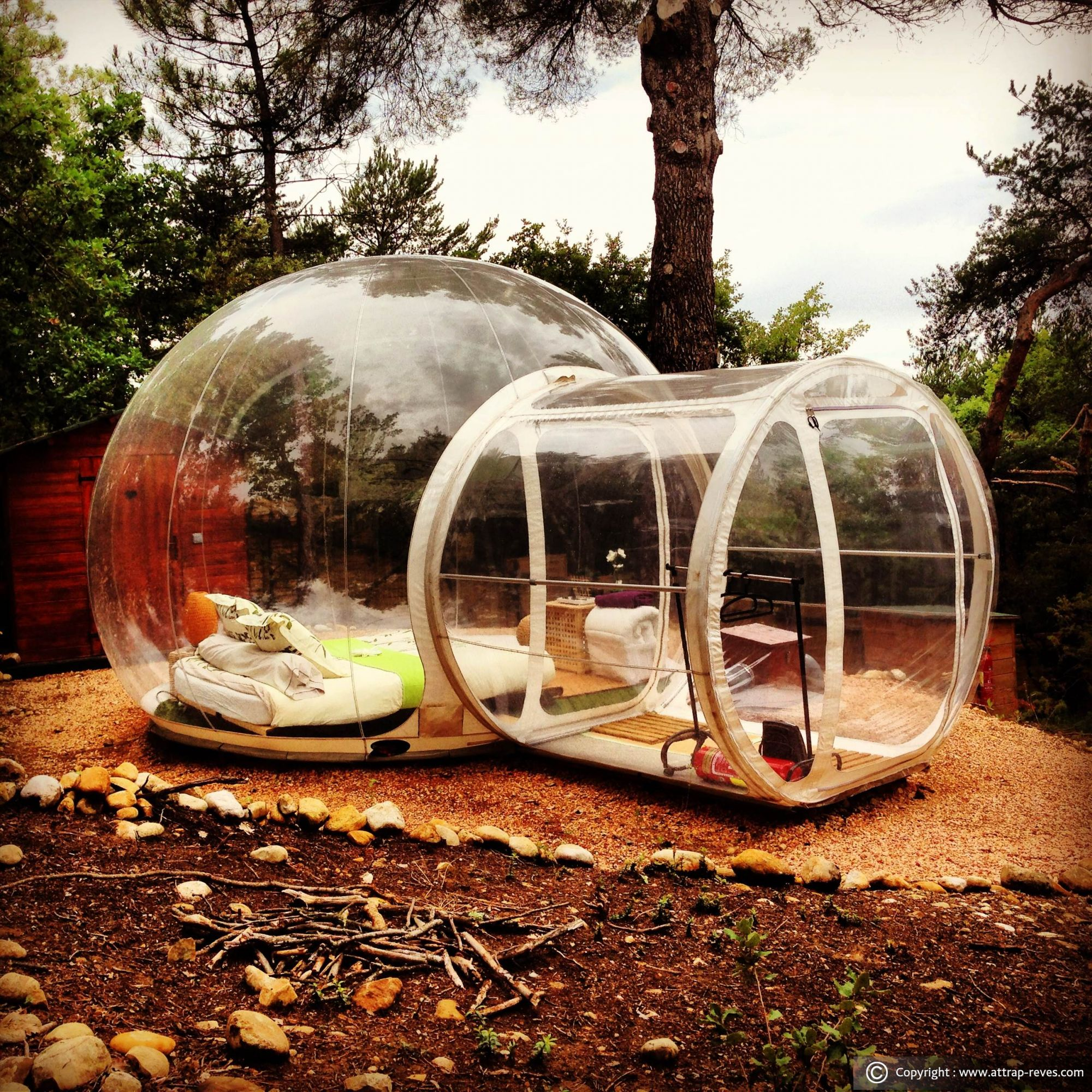 Attrap 39 r ves bubble hotel at montagnac montpezat for an unusual night Attrap reves hotel